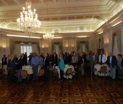 Almoço em homenagem aos Presidentes do Clube do Naval, do Clube Militar e do Clube de Aeronáutica.